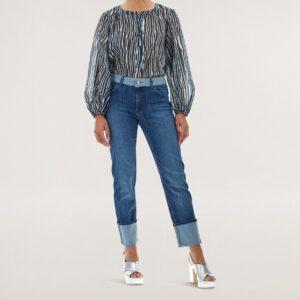 Jeans regular risvolto CARACTERE